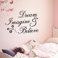 Wall Stickers Dream Imagine Sticker Letter Words Decal Removable DIY Inspirational Quote Art Decor For Bedroom Li