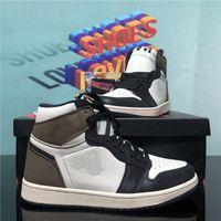 En Kaliteli Jumpman 1 1 S Yüksek Siyah Toe Değil Değil Erkekler Kadınlar Kadınlar Basketbol Ayakkabı Obsidiyen UNC Siyah Beyaz Erkek Bayan Sneakers Ayakkabı