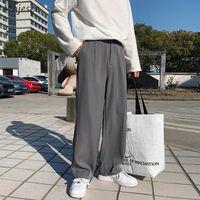 Pantaloni casual uomo allentato dritto chic autunno autunno tasca tascabile moda stile coreano streetwear studenti maschio harajuku semplice uomo fresco