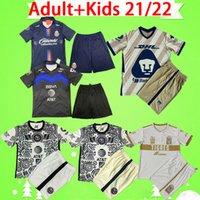 2021 Adult + Kids Kit 시바스 축구 유니폼 멕시코 LIGA MX 21 22 guadalajara C.F. 몬테레이 2022 소년 축구 셔츠 아이 세트 SIZE 16-2XL