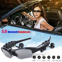 스마트 오디오 블루투스 선글라스 BT5.0 헤드폰 안경 무선 이어 버드 폰과 호환 PC 태블릿 사용