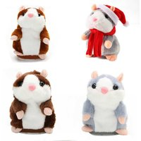 15 cm schöne sprechende Hamster sprechen Gespräch Klangrekord wiederholen Gefüllte Plüschtier Kawaii Hamster Spielzeug Kinder Kinder Geburtstagsgeschenke Q0727