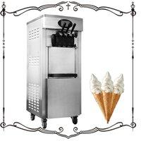 Ice Cream Making Machine Soft Vertical Dessert LCD Panel Vending 110V 220V