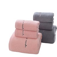 Towel High Quality Egyptian Cotton Towels Adults Sweet Letters Soft Embroidered Bath Face Bathroom Shower Gift For Lovers
