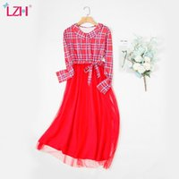 Maternity Dresses LZH 2021 Pregnancy Po Shooting Dress Autumn For Women Long Sleeve Maternal Clothes Fashion Stitching Women's