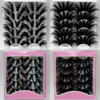 Faux mink lashes false eyelashes explosively 8D 25mm long fluffy 5 pair a pink packing box multi-layer lengthened thick thickened fake lash cases