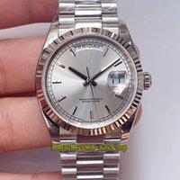 Eternity Relógios V2 Versão de Upgrade EWF 36mm 118239 128238 Cal.3255 EW3255 Mecânica Automática 128239 Mens Assista Silvery Dial 18k Gold 316L Caixa e Pulseira
