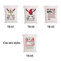 Рождественские мешки 5 дизайнов Drawstring Canvas Santa Claus сумки подарочные сумки для украшения Chirldren