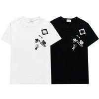 21SSS France 3D T-shirt T-shirt Broderie T-shirt Hommes Femmes Couple Été Haute Qualité Paris Street Casual Luxe Sleeve