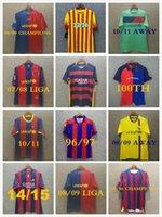 Barca Retro Soccer Jerseys 05 06 07 08 09 10 11 12 13 14 15 91 92 95 96 97 98 99 Messi Ronaldinho Ronaldo Stoickov 100 축구 유니폼