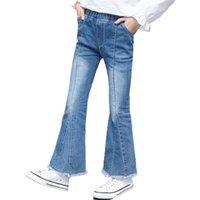 Mädchen Flare Jeans Denim Boot Cut Pants Hose Solid Kinder Teenager Frühling Herbst Kinder für Mädchen 4 6 9 12 14 Jahre 210729