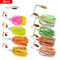 4pcs 8Pcs Fishing Lure Wobbler Lures Spinners Spoon Bait For Pike Peche Tackle All Artificial Baits Metal Sequins Spinnerbait 210622