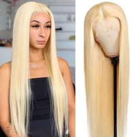 wigs 28 30 Inch Honey Blonde 613 Lace Front Wipes 13X4 Transparent Hd Edge Frontal Straight Human Hair Wig Full