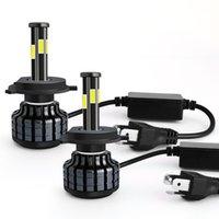 2pcs H4 LED Lampadine del faro H7 H7 LED Canbus Lights Auto H11 H3 880 881 H1 HB3 9005 HB4 9006 H13 12V 6000K Auto Steplamps 360 ° luce