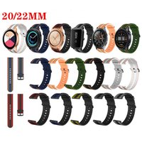 20 22mm Striped Rainbow Straps Sport Silicone Band Watchband for Samsung Galaxy Active 2 Huawei GT2 Xiaomi Watch Garmin Replacement Bands