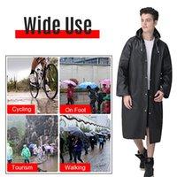 Women's Trench Coats Portable Hooded Raincoat Women Men Outdoor Rainwear Waterproof Camping Ponchos Plastic Keyring Ball Rain Cover Unisex