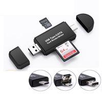 قارئ بطاقة الذاكرة Micro SD / TF 3-in-1 USB 2.0 Type C CardReader OTG محول لجهاز الكمبيوتر المحمول / الهاتف الذكي اللوحي XBJK2105