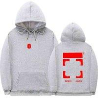 Mode Sweatshirts Marke Off Street Hoodies beschichteter Pfeil Gekrönter Brief Druck Loose Hoodie Baumwolle Fleece Pullover Weiß Sweatshirt Jacke