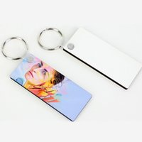 Blank Keychain for Men Women Party Favor Sublimation Personality Keychains Ornament Mdf Coated Board Double-sided Heat Transfer Keychaines