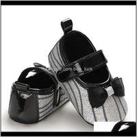 Baby, Kids & Maternityborn Baby Girl Crib Shoes Bowknot Soft Princess Cotton Anti-Slip Sneaker Prewalker First Walkers Drop Delivery 2021 Ptc