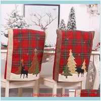 Ers Sashes Textiles & Gardenchristmas Elk Christmas Decoration For Home Year Xmas Dinner Plaid Chair Back Er Decor1 Drop Delivery 2021 Cmjne