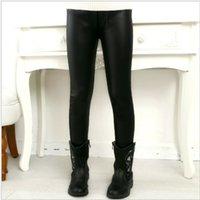 Baby Pure Color Elastic Leggings Autumn Girls Slim Pantaloni in pelle lunghi Moda Bambini Indossare Nuovo Arrivo 6HC J2