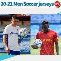 2021 Real Zaragoza Soccer Trackss Vazquez Zapater Miguel 20/21 Мужчины футбольные рубашки домой в гостях Индивидуальные футбольные формы