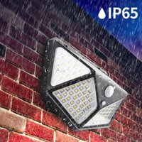 Liibot 100 LED 태양 빛 야외 램프 PIR 모션 센서 벽 랜턴 방수 전원 햇빛 정원 장식