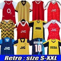Henry Retro Soccer Jerseys 98 99 83 86 95 02 03 91 93 94 97 2000 2002 2003 2006 1995 Uhmhf Classic Vintage Wright Fabregas Arsen Ljungberg Vieira Bergkamp Football Shirt