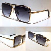 남성 인기 모델 M 6 선글라스 금속 빈티지 패션 스타일 선글라스 광장 프레임리스 UV 400 렌즈 패키지 클래식 스타일