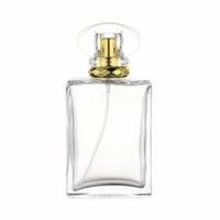 100ml portable square glass perfume spray bottle