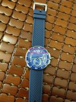 Montres classiques Mens Montres 42mm WSCA0011 Mécanique Saphir Saphir En acier Bezel Bleu Caoutchouc Bande Montre Luxe Real Photo