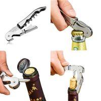 Stainless Steel Red wine Corkscrew MultiFunction Wine Opener Bar Tools Accessories knife Beer Opener gifts LX4310