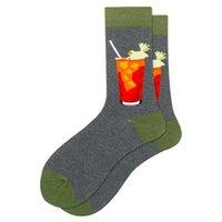 Men's Socks Harajuku Colorful Happy Funny Symbol International Chess Geometric Formula Cotton Sock Christmas