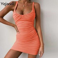 Yojoceli sexy party club sundres winter bodycon mini dress female vestidos 210609