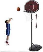 Cerchio da basket da esterno portatile, sistema di goal di altezza regolabile, per bambini / gioventù / adolescenti