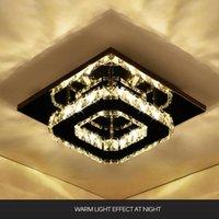 Modern White Crystal Ceiling Lamps LED Living Room Lamp Lustre Light Lights Home Decor Bedroom