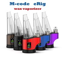 Authentic M-CODE Enail Wax Vaporizer kits Concentrate Shatter Budder Dabs Rig 400F-700 800F Continuous Tempreature Setting 7 Color Lighting 2600mAh Battery