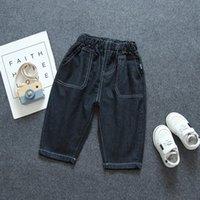Pezzo Bambini Allentato Pantaloni Elastico Vita elastica Pantaloni di Childern di alta Qualità Blu Toddler Style Casual Style Boys Vestiti Autunno Jeans