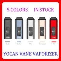 2021 Original Yocan Vane Kit Main Dry Herb Vaporizer Oled Display Keramisk kammare 1100mAh Pen 5 färger