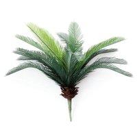 Decorative Flowers & Wreaths Tropical Palm Tree Artificial Plastic Fake Plant Bouquet For Jungle Party Apartment Decorations Faux Foliage