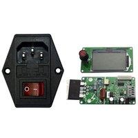 Plugues de alimentação inteligente 100A LCD Double Pulse Encoder Spot Soldador Máquina de Máquina de Controle de Time Inlet Tomada masculina com fusível Switch
