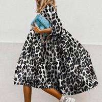 Le donne vintage stampa floreale sciolto A-line Dress 2020 estate elegante casual o-scollo a mezza manica abito da donna nuovo festa vestido f6iu #