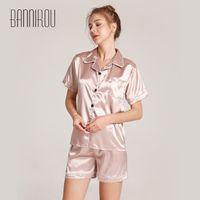 Damen-Pyjamas-Sommer-Säuglings-Drop für Damen Nachtwäsche Bannirou