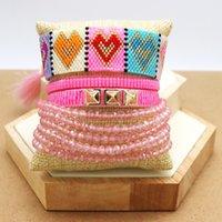 Zhongvi Miyuki Braccialetto per donna colorata cuore modello braccialetti gioielli femme pulseras mujer 2021 fascino a mano bracciale cristallo
