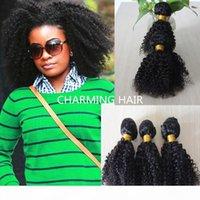 Büyüleyici Saç Dokuma Kıvırcık Brezilyalı Afro Kinky Kıvırcık 3 adet Paketler Işlenmemiş Jerry Curl İnsan Bakire Saç Örgü Bohemian Saç