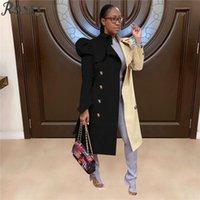 Vestes pour femmes RMSFE 2021 Mélange polyvalent Couleur Trench Trench Coat Vêtements
