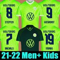 21 22 Vfl Wolfsburg كرة القدم جيرسي Whagorst Arnold Mbabu Steffen 2021 2022 Brekalo الصفحة الرئيسية بعيدا كرة القدم قميص mehmedi guilavogui xaver الفانيلة