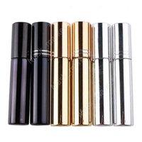 10ml d'atomiseur de placage UV mini bouteille de parfum de parfum portable rechargeable échantillon échantillon conteneurs vides or argent noir couleur daz31