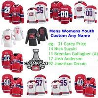 2021 Stanley Cup Champions Final Champions Montreal Canadiens Magliette da hockey Ghersey Prezzo Jersey Nick Suzuki Brendan Gallagher Josh Anderson Men Personalizzato Cucito